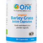 one barley grass caps