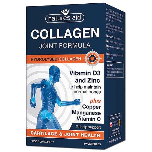 Natures Aid Collagen Joint Formula - 60 Caps