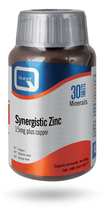 Quest Synergistic Zinc 15 mg 45 tablets