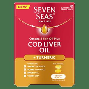 Seven Seas Cod Liver Oil Turmeric