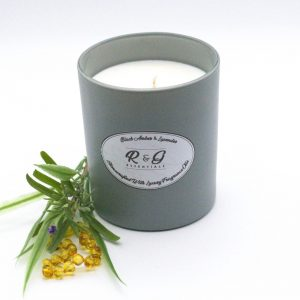 R&G Essentials Black Amber and Lavender Candle
